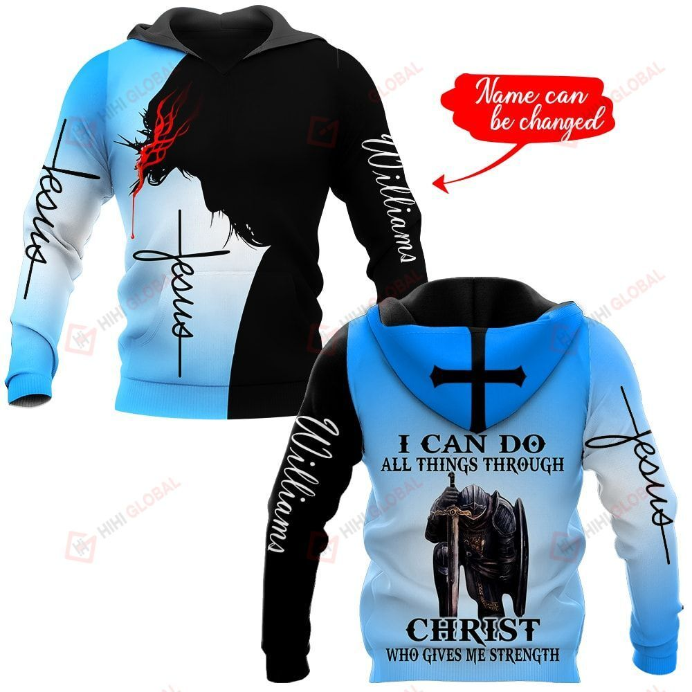 I can do all things through Christ who gives me strength personalized ALL OVER PRINTED SHIRTS
