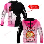 Jesus is my savior Hamsters are my therapy personalized name ALL OVER PRINTED SHIRTS