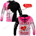 Jesus is my savior Nurse is my therapy personalized name ALL OVER PRINTED SHIRTS