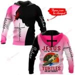 Jesus is my savior Turtles are my therapy personalized name ALL OVER PRINTED SHIRTS