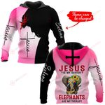 Jesus is my savior Elephants are my therapy personalized name ALL OVER PRINTED SHIRTS