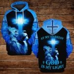 At my darkest God is my light ALL OVER PRINTED SHIRTS