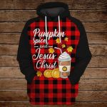 Pumpkin spice and Jesus Christ ALL OVER PRINTED SHIRTS