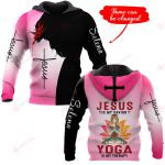 Jesus is my savior Yoga is my therapy personalized ALL OVER PRINTED SHIRTS