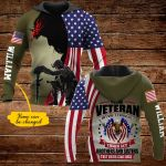 Proud veteran but don't thank me personalized ALL OVER PRINTED SHIRTS