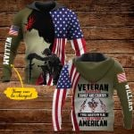 I am a veteran I believe in God family and country personalized name ALL OVER PRINTED SHIRTS