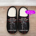 A Child of God a man of Faith Slippers Personalized name ALL OVER PRINTED DH101614