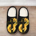 Jesus Cross Sunflower Slippers ALL OVER PRINTED DH101616