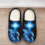God blue lion cross Slippers ALL OVER PRINTED DH101607