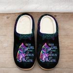 This girl runs on Jesus and cats Slippers ALL OVER PRINTED 1016205