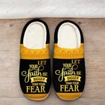 Let your faith be bigger than your fear yellow Slippers ALL OVER PRINTED 1016210