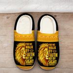 For we walk by faith yellow Slippers ALL OVER PRINTED 1016209