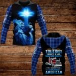 I am a trucker I believe in God family and country ALL OVER PRINTED SHIRTS PLAID HOODIE