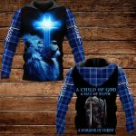 A child of God A man of faith A warrior of ChristALL OVER PRINTED SHIRTS PLAID HOODIE