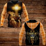 I asked God to make me a better man He sent me my wife ALL OVER PRINTED SHIRTS PLAID HOODIE