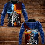 The devil saw me with my head down and thought he'd won until I said Amen ALL OVER PRINTED SHIRTS PLAID HOODIE