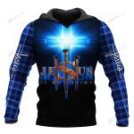 Jesus is my savior ALL OVER PRINTED SHIRTS PLAID HOODIE