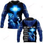 God says you are ALL OVER PRINTED SHIRTS PLAID HOODIE