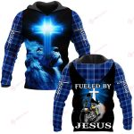 Fueled by Jesus ALL OVER PRINTED SHIRTS PLAID HOODIE