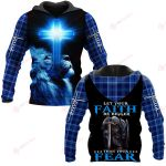 Let your Faith be bigger than your Fear ALL OVER PRINTED SHIRTS PLAID HOODIE