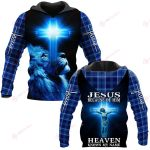 Jesus because of him heaven knows me name ALL OVER PRINTED SHIRTS PLAID HOODIE