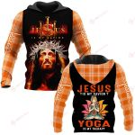 Jesus is my savior Yoga is my therapy ALL OVER PRINTED SHIRTS PLAID HOODIE