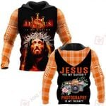 Jesus is my savior Photography is my therapy ALL OVER PRINTED SHIRTS PLAID HOODIE