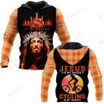 Jesus is my savior Cycling is my therapy ALL OVER PRINTED SHIRTS PLAID HOODIE