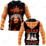 Jesus is my savior Cavaliers are my therapy ALL OVER PRINTED SHIRTS PLAID HOODIE