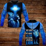 My God He's living on the inside roaring like a lion  ALL OVER PRINTED SHIRTS DH102012