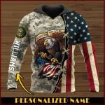 All gave some some gave all Army Personalized name ALL OVER PRINTED SHIRTS DH102008