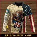 All gave some some gave all USCG Personalized name ALL OVER PRINTED SHIRTS DH102007