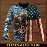 All gave some some gave all Navy Personalized name ALL OVER PRINTED SHIRTS DH102003