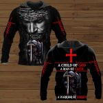 A Child of God a man of Faith a warrior of Christ Knight Jesus ALL OVER PRINTED SHIRTS DH102106