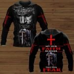 Let your faith be bigger than your fear Knight Jesus ALL OVER PRINTED SHIRTS DH102105