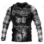 Don't be afraid Just believe plaid ALL OVER PRINTED SHIRTS 1021201