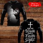 For we walk by faith not by sight Personalized name ALL OVER PRINTED SHIRTS 1022208
