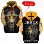 Jesus is my everything Personalized name ALL OVER PRINTED SHIRTS DH102203v1