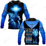 I can do all things through Christ who strengthens me blue lion ALL OVER PRINTED SHIRTS DH102201