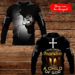 I'm no longer a slave to fear I am a child of God Personalized name ALL OVER PRINTED SHIRTS 1022207