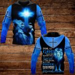 For God has not given us a spirit blue lion ALL OVER PRINTED SHIRTS 1022202