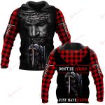 Don't be afraid Just have faith plaid ALL OVER PRINTED SHIRTS DH102301