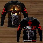 A Child of God a man of faith a warrior of Christ Jesus ALL OVER PRINTED SHIRTS DH102403