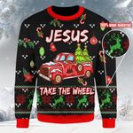 Jesus take the wheel Christmas Ugly Sweater ALL OVER PRINTED DH102202