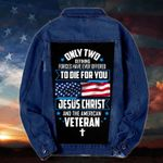 Only two Jesus Christ and Veteran Denim Jacket 1024207
