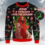 Jesus is the reason for the season Christmas Ugly Sweater ALL OVER PRINTED DH102200