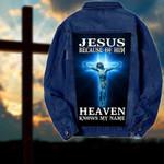 Jesus because of him heaven knows my name Denim Jacket 1024201