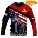 One Nation under God Vet Personalized name ALL OVER PRINTED SHIRTS 1026203