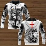 For me walk by faith OVER PRINTED SHIRTS 161220