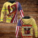 I'm a grumpy old firefighter OVER PRINTED SHIRTS 161220